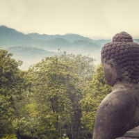 buddha statue in nature